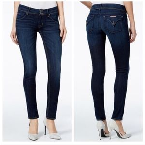 Hudson Mid Rise Collin Skinny Flap Pockets Jeans